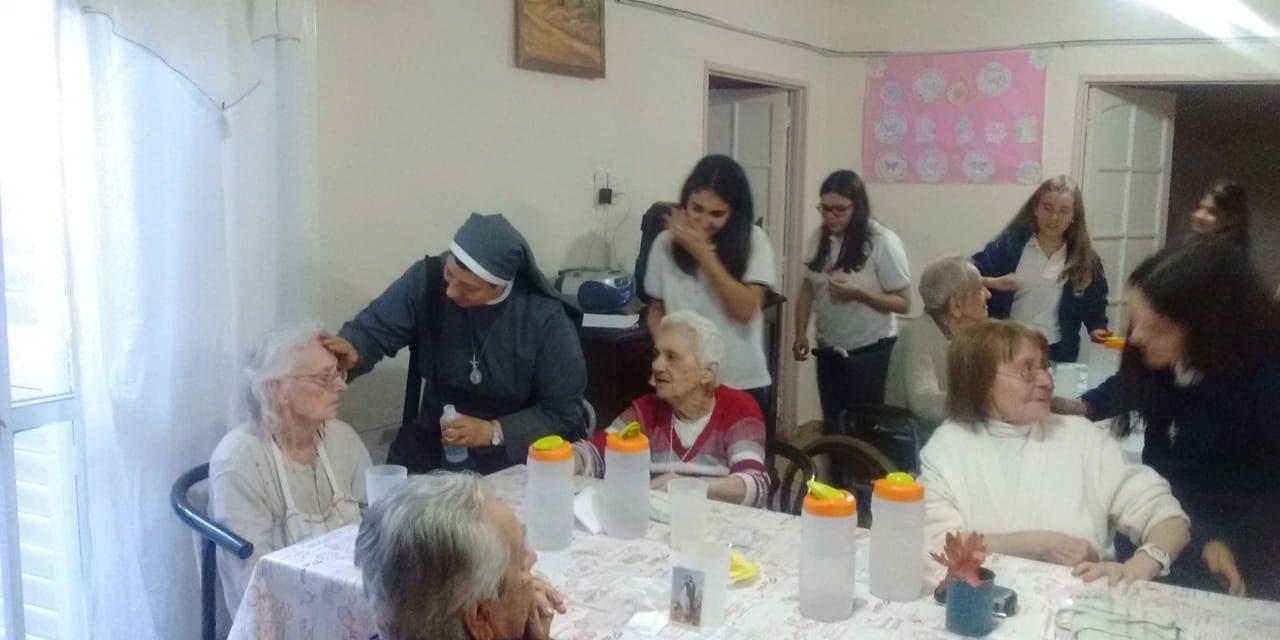 Visitando a los abuelos